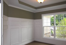 Custom Molding and Wainscoting in Regent Home Build
