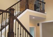 Custom Wood Railings in Regent Home Plan