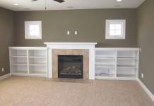 Fireplace and Custom Shelving Plan